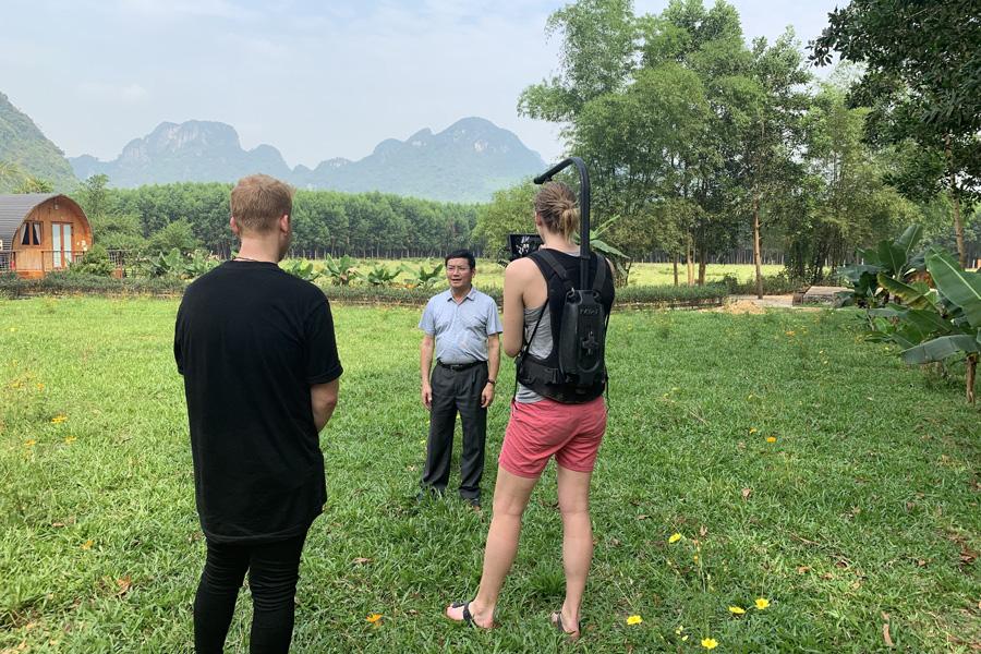 Alan Walker's filming crew in Quang Binh, Viet Nam