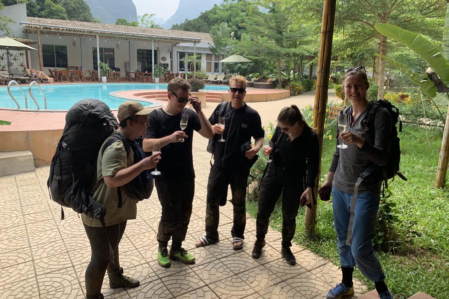 Alan Walker's filming crew in Chay Lap farmstay