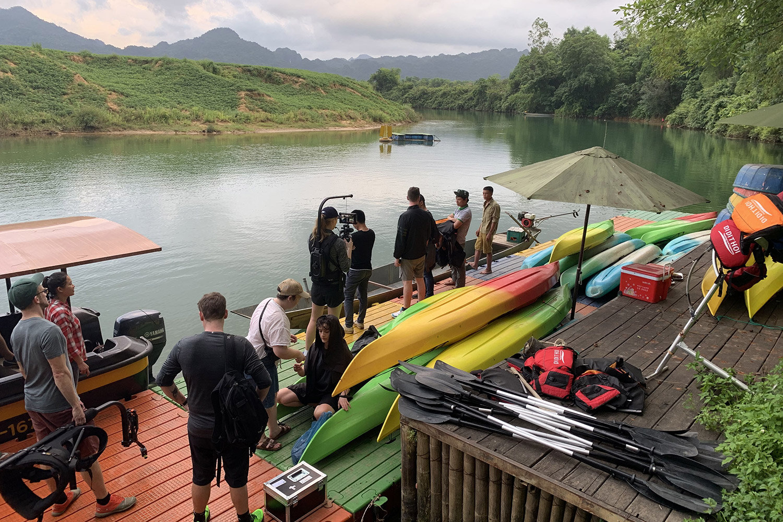 Alan Walker's filming crew in Vietnam